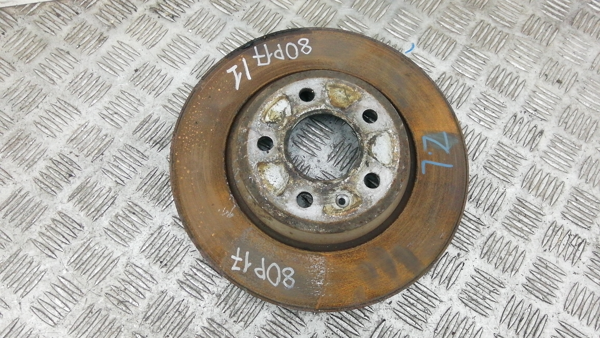 Диск тормозной задний, AUDI, A5 1, 2011