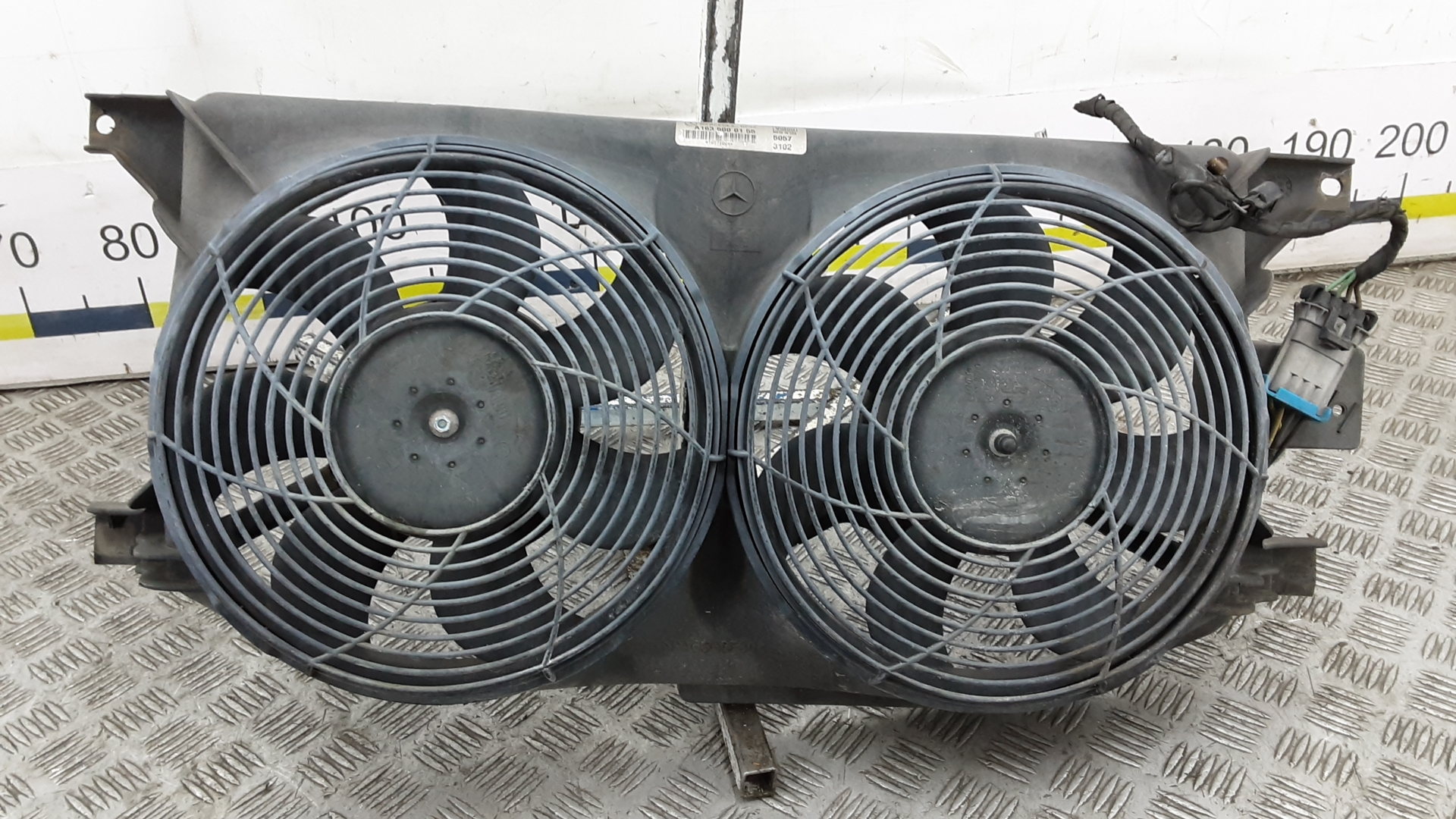 Вентилятор радиатора, MERCEDES BENZ, M-CLASS W163, 2002